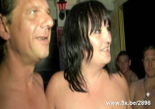mature gangbanged in a sauna club